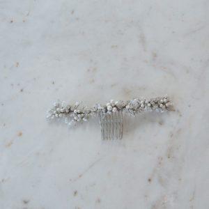 Silver Stone Bridal Comb