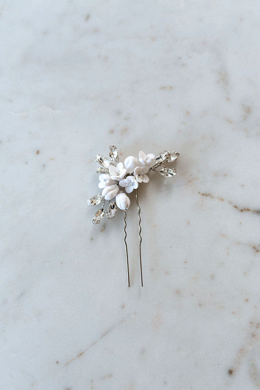 Delicate Flower Hair Pin