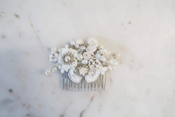 Small Rhinestone Pearl Comb