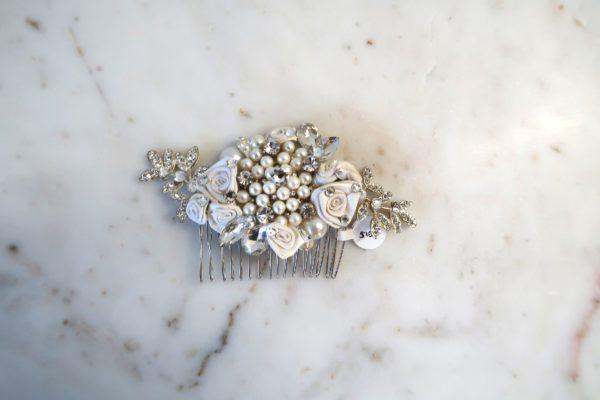 Dazzling Pearl Bridal Comb