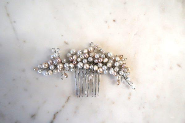 Pearl Cluster Bridal Comb
