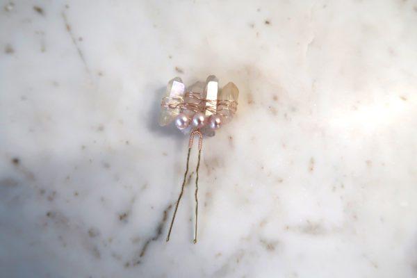 Rosegold Crystal Hair Pin