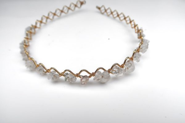 Clear Quartz Woven Headband