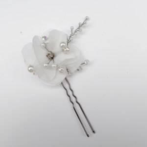 Delicate White Flower Pin