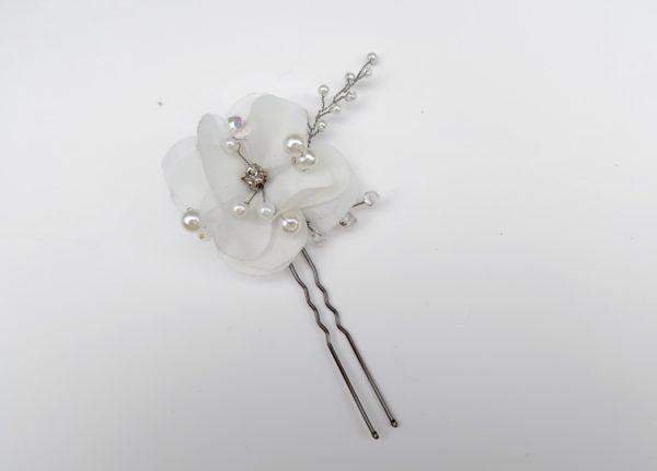 Delicate White Flower Pin