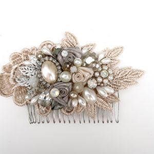 Rose Gold Pearl Comb