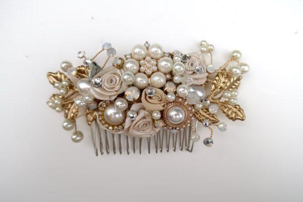 Exquisite Gold Rhinestone Comb