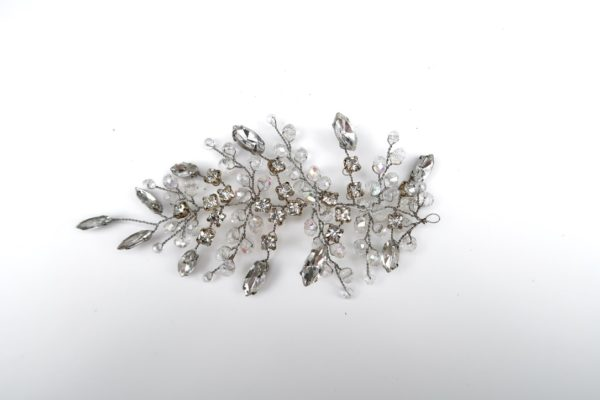 Faceted Crystal Hair Leaf