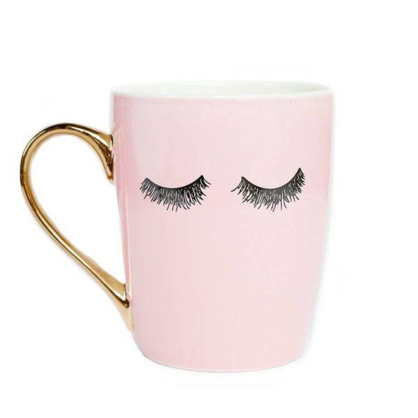 Pink Eyelash Coffee Mug